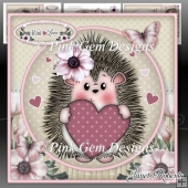 Hedgy with Heart Mini Kit Birthday/Anniversary/Valentine/Mothers