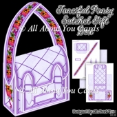 Fanciful Pansy Satchel Gift Box