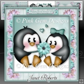 Valentine Penguins 2 Mini Kit Valentines Day/Anniversary/Engage