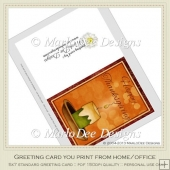 Glowing Candle Happy Thanksgiving Printable Greeting Card
