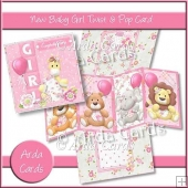 New Baby Girl Twist & Pop Card