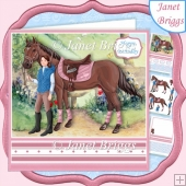 HORSE RIDING 7.5 Decoupage & Insert Mini Kit