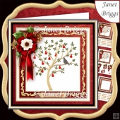PARTRIDGE IN A PEAR TREE 7.7 Decoupage & Insert Kit