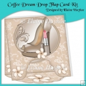 Coffee Dream Drop Flap Card Kit