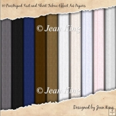 10 Pinstriped Suit and Shirt Fabric Effect A4 Papers