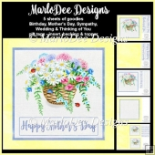 Beautiful Flower Basket 2 - Mixed Sentiments Mini Card Kit