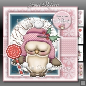 Santa Stop Here Ollie Owl Pink Mini Kit