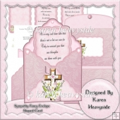 Sympathy Fancy Envelope Shaped Card