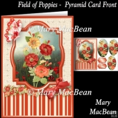 Field of Poppies Pyramid Card Front