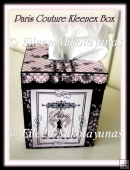 Paris Couture Kleenex Brand Tissue Box Cover
