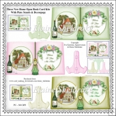 Three New Home Open Book Card Kits With Plate Stands & Decoupage
