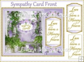 With Our Sympathy Card Front with Layers