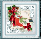 The red Christmas stocking