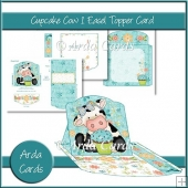 Cupcake Cow 1 Easel Topper Card