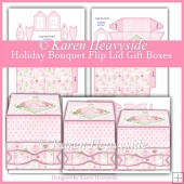 Holiday Bouquet Flip Lid Gift Boxes