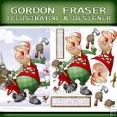 Christmas Crazy Golfer Dude with Matching Insert Kit
