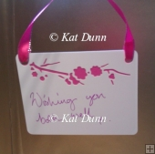 Cherry Blossom Wedding Collection - Wishing Tree Tags Cut File