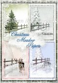 Christmas Meadow Backing Background Papers Set