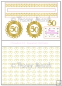 50th Anniversary Penny Slider Sheet