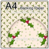 ref1_bp351 - Cream Christmas Holly