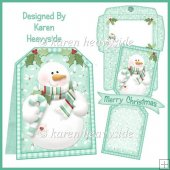 Xmas Trimmings Snowman Pop Out Banner Card