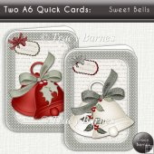 A6 Quick Christmas Cards: Sweet Bells