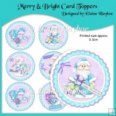 Merry & Bright Christmas Card Toppers