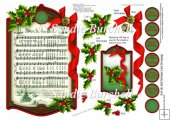 Deck the Hall Christmas Carol Decoupage