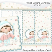 Frilled Square Card Kit 4(Retiring in August)