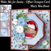 Wake Me for Santa - Offset Octagon Card