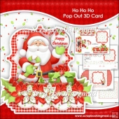 Ho Ho Ho Pop Out 3D Card & Envelope