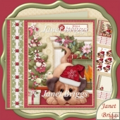 Have a Woofly Christmas 7.8 Decoupage Kit