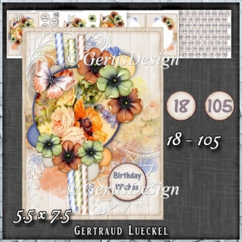 In Love With Flowers Card Kit 1434