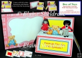 Toy Box Pop-Up Box Card Kit & Matching Envelope