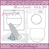 Slider Easel Card Template Plain Circle
