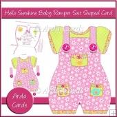 Hello Sunshine Baby Romper Suit Shaped Card