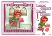 Facebook Addict - Square Card Topper With Decoupage