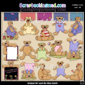Button Bears Clipart Graphics Download