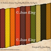 10 Autumn Desires Tiny Ditsy Black Dots A4 Papers