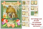 Cottage Crad 4 30 different sentiment tags, inserts, decoupage