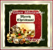 Embossed Backgrounds Christmas Topper with 6 Greetings