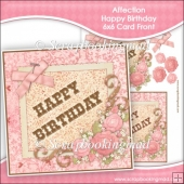 Affection - Happy Birthday 6x6 Card Front