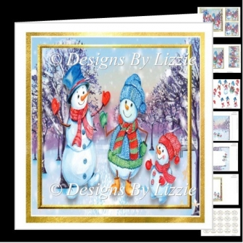 Snowmen Walk 6 x 6 Mini kit