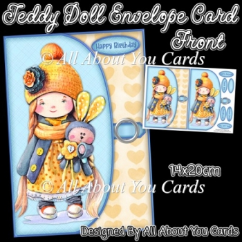 Teddy Doll Envelope Card Front
