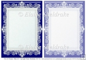 2 x A5 Blue (3) Lace Frames for Card Making & Scrapbooking