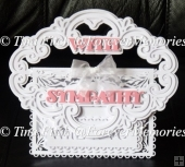 With Sympathy Buckle Card, CAMEO,CURIO,PORTRAIT