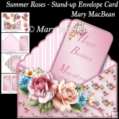 Summer Roses - Stand-up Envelope Card