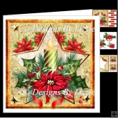 Candle Poinsettia Mini Kit