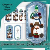 Snowman Tower dl Shaped Card Kit
