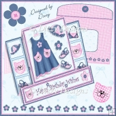 Dress Me Up - Stepped Pop Out Card